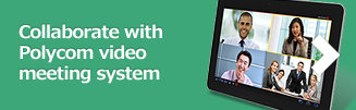 Collaborate with Polycom video meeting system